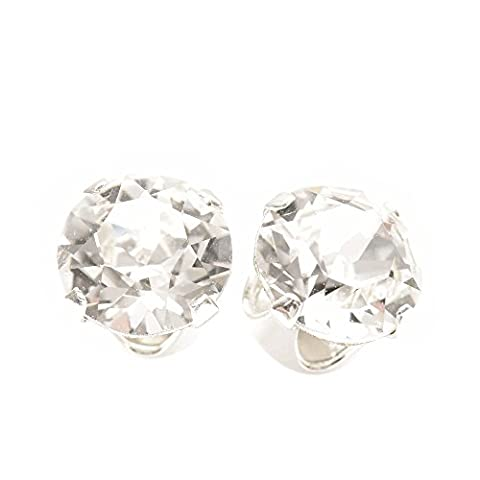 Sterling Silver stud earrings expertly made with sparkling diamond white crystal from SWAROVSKI® for Women