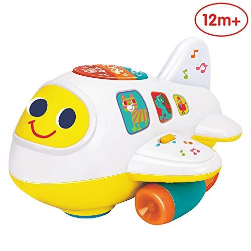 ANIKI TOYS Baby elektronisches Flugzeug Licht und Musik pädagogisches Spielzeug für Kinder für Kleinkinder Jungen und Mädchen 1 2 3 4 5 Jahre alt (Spielzeug Elektronisches Kleinkinder Für)