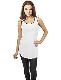 Débardeur Top Long pour Femme 100% Cotton Tshirts Haut sans maches Urban Classics
