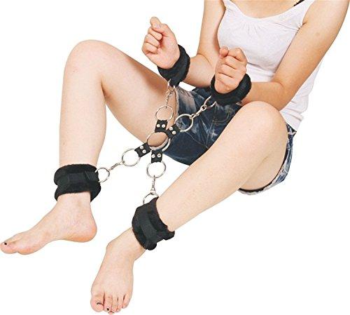 LKOUS Bondage für Paare Fetisch Handfesseln Fußfesseln Restriant Querbindung Bondage Fesseln
