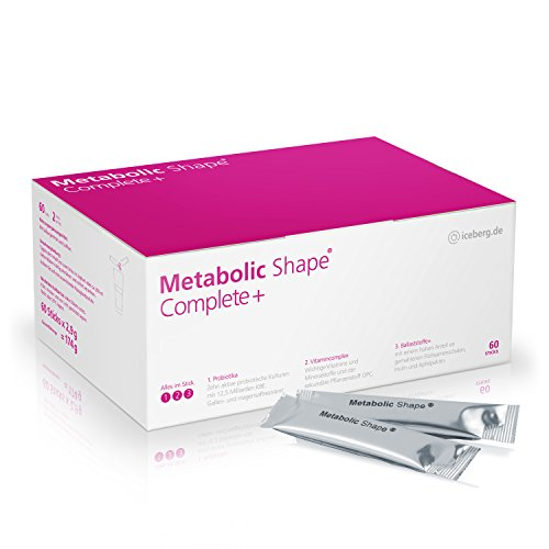 Metabolic Shape Complete+ Die effektiven 3-Komponenten für gesundes Abnehmen - Probiotika + Vitamine + Ballaststoffe - Stoffwechsel - Darmflora - Verdauung - Gewichtsreduktion - Stoffwechselkur -Diät