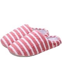 Zapatillas De Invierno De Felpa Zapatilla De Piel Sintética Cálida De Algodón Zapatos Antideslizantes De Interior…
