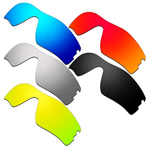 HKUCO Verstärken Ersatz-Brillengläser für Oakley Radar Pitch Rot/Blau/Schwarz/24 Karat Gold/Titan Sonnenbrille