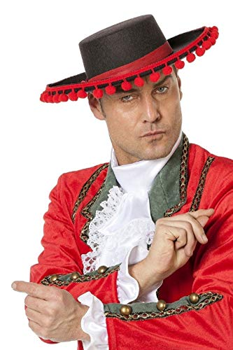 Matador Kostüm Kind - narrenkiste W9280 schwarz-rot Damen Herren Spanier-Spanierin Hut