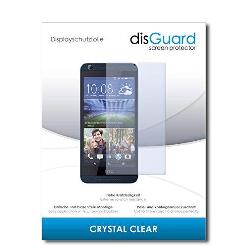 disGuard® Bildschirmschutzfolie [Crystal Clear] kompatibel mit HTC Desire 626G Dual Sim [2 Stück] Kristallklar, Transparent, Unsichtbar, Extrem Kratzfest, Anti-Fingerabdruck - Panzerglas Folie, Schutzfolie