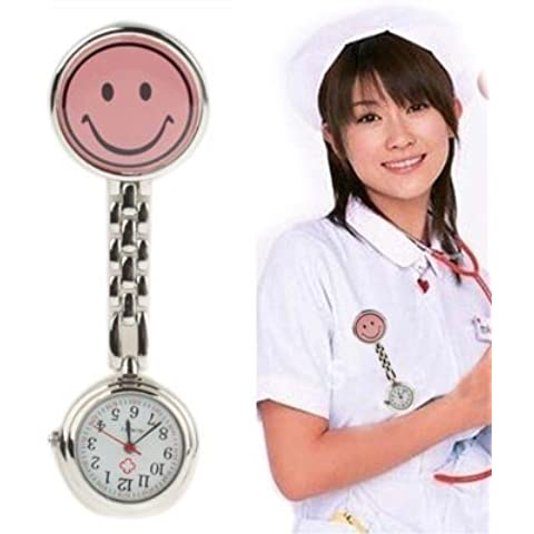 Cute Yellow Smiley Face Style Nurse Orologio