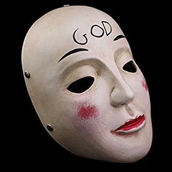 Kostüm Cross Play - Smays Terrorist Attack of The Purge Role Play Polyresin Mask Gift for Halloween Party, Masquerade, Stage Performance, Carnival and Bar (GOD Mask)