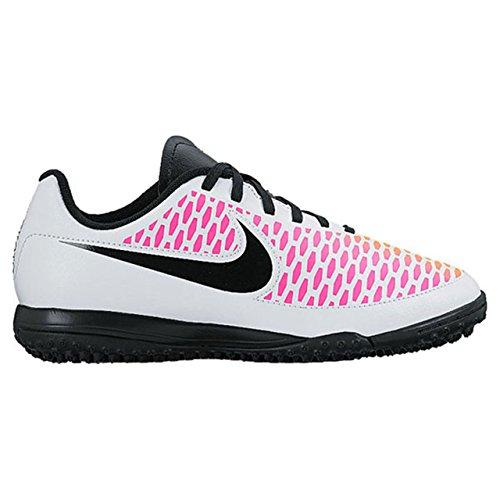 Nike Junior Magista Onda TF, Chaussures de Football Amricain Mixte Enfant Blanco (White / Black-Pink Blast-Volt)