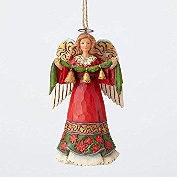 ENESCO Jim Shore Heartwood Creek Angel Holding Bells Christmas Ornament 4055123 New -
