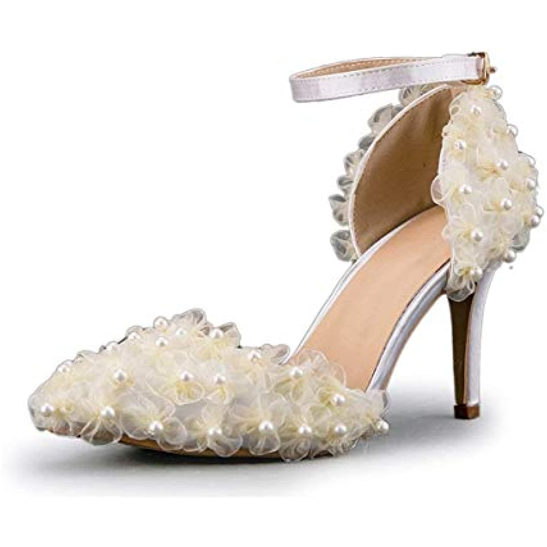 ZHRUI Gauze Flowers Flowers Gauze pour Femme - Chaussures De Mariage Mariée Ivoire (coloré : -, Taille : -) - B07JZ83NHD - ef3d0b