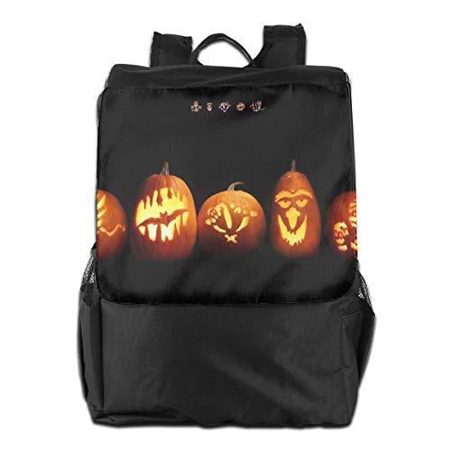 Halloween-Ferien-Kürbis-Unisex-beiläufige wandernde Rucksäcke