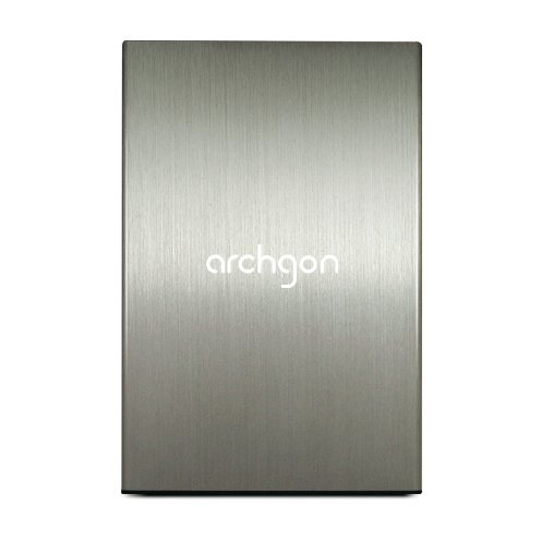 Archgon Classic Silber MH-2671-U3 HDD/SSD Vollmaterial Aluminum Gehäuse 7mm (2.5