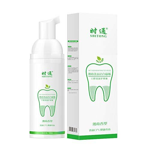s Teeth Mousse Foam Mouthwash Zahnflecken Entfernen Zahnaufhellung Frischer Atem Zitrone Minze Schmecken ()