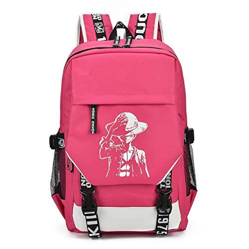 Nuovo zaino per il tempo libero tela zaino studente borsa da viaggio borsa del computer zaino da viaggio grande capacità rosso