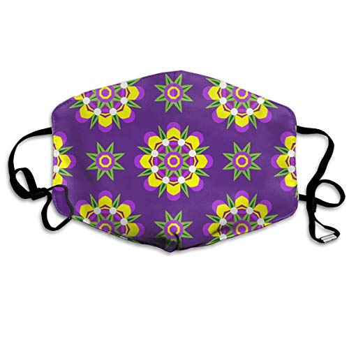 Zcfhike Anti Dust Pollution Mask Kaleidoscope Floral Pattern Reusable Washable Earloop Face Mouth Mask Men Women