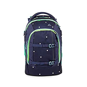SATCH Pretty Confetti Kinder-Rucksack, Blau-Peach Gepunktet
