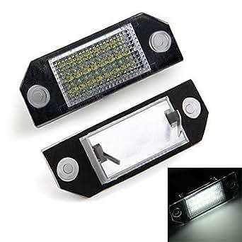 ZCL éclairage de la plaque d'immatriculation voiture numéro 24 blanc LED s'allume ampoules pour ford focus 2 c-max