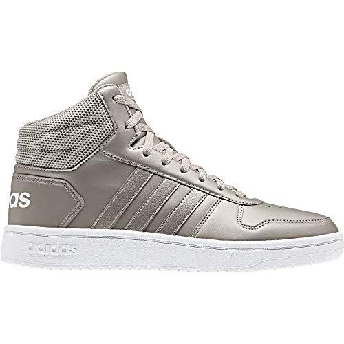 adidas Damen Hoops 2.0 Mid Basketballschuhe, Mehrfarbig Metpla/Ftwbla 000, 40 2/3 EU (Adidas-basketball-frau-schuhe)