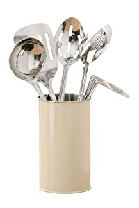 Premier Housewares 5-Piece Kitchen Tool Set with Canister - Cream