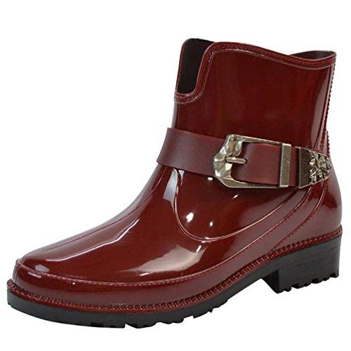 LvRao Ladies Rubber Heel Snow Rain Shoes Waterproof Ankle Booties Women