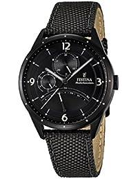 Festina Herren-Armbanduhr RETRO Analog Quarz Leder F16849-3