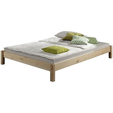Lit futon lit simple TAIFUN 120 x 200 cm pin