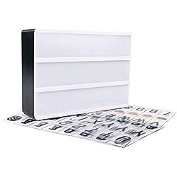 Soulitem A6 combinaison LED boîte de lumière de nuit port USB bricolage noir lettres cartes lampe message panneau parti signe cinéma lightbox