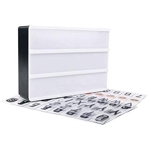 Soulitem A6 Combinación LED Caja de Luz Nocturna Puerto USB DIY Letras Negras Tarjetas Lámpara de Mensaje Tablero de Fiesta Cartel Cine Lightbox