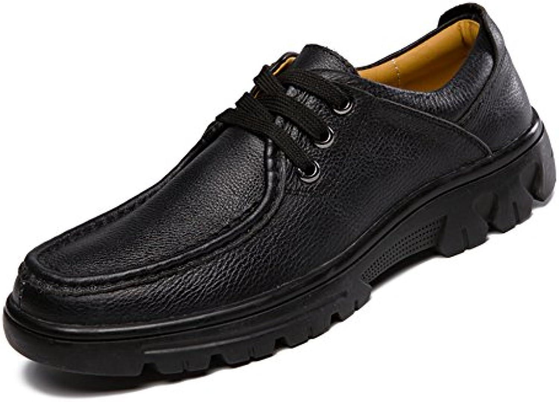 Yrr Herren Casual Spring Lederschuhe Laceup Hand Genäht Business Schuhe Für Die Arbeit Reisen