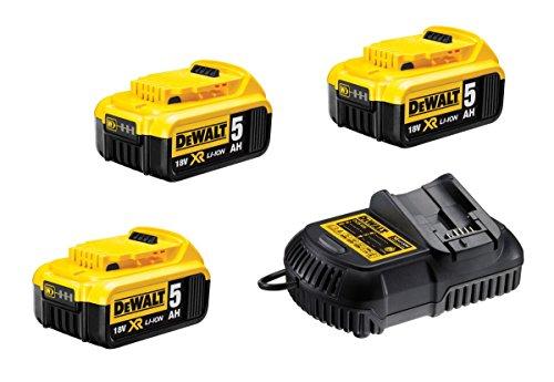 DeWalt dcb105p2-qw Kit de démarrage 18 V, 5,0 Ah dcb105p2 de QW, dcb105p3 de QW