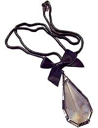 Hosaire Moda mujer arco de cristal gota de agua grande largo cadena encantos suéter collar accesorios de la joyería