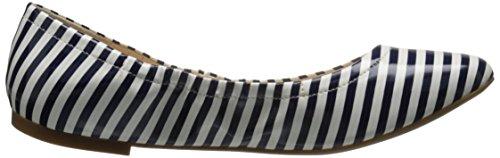 Nine West Girlsnite Ballet Synthetic Flat White/navy
