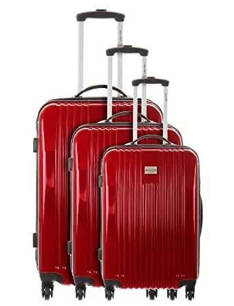 Ensemble de 3 Valises Travel One pour Mode homme, Modèle Ensemble de 3 Valises Ensemble de 3 Valises MARACAY ROUGE