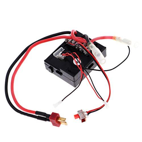 B Blesiya 0056 Receptor para Wltoys 12423 12428 1:12 RC Coche Modelo