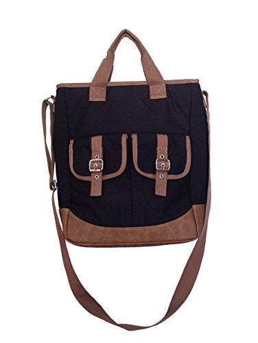 Sachi Crossbody North/South Leakproof Insulated Bag (Black) by Sachi (South Cross Body)
