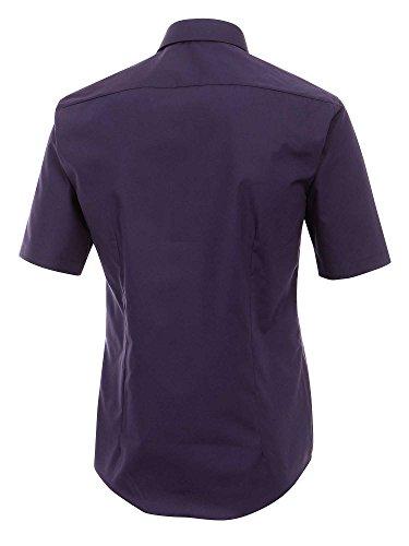 Venti 001620, Chemisier Business Homme, Weiß violet foncé