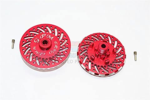 Traxxas E-Revo Brushless Edition Upgrade Pièces Aluminium Wheel Hex Claw +2mm With Brake Disk - 2Pcs Set Red