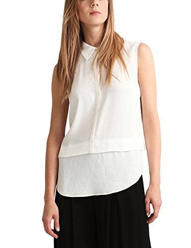 APART Fashion Damen Bluse Fashion: Clear Black & Cream Weiß (Weiß)