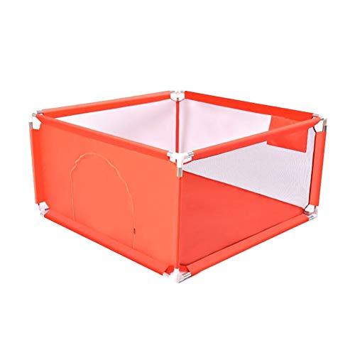Lit D'intérieur pour Bébé Lit De Bébé Rampant Tapis Ménage Clôture Clôture De Protection pour Enfants Play, 128 × 128 × 68cm (Couleur : Red)