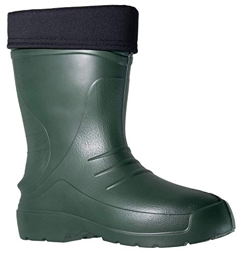 Fagum Stomil Mens Wellingtons - Warm Waterproof Boots with Fleece Lining - Slip Resistant Garden Shoes
