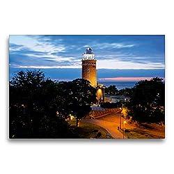 Premium Textil-Leinwand 75 x 50 cm Quer-Format Leuchtturm an der Ostsee in Kolobrzeg (Polen) | Wandbild, HD-Bild auf Keilrahmen, Fertigbild auf hochwertigem Vlies, Leinwanddruck von Christian Bosse
