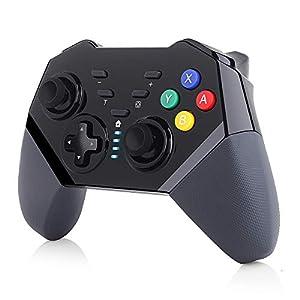 TUTUO Controller für Nintendo Switch, Bluetooth Wireless Controller mit Wiederaufladbarer Akku, Dual Shock und Turbo Funktionen, Gamepad mit 6-Achsen Gyrosko kompatibel mit Nintendo Switch/Lite