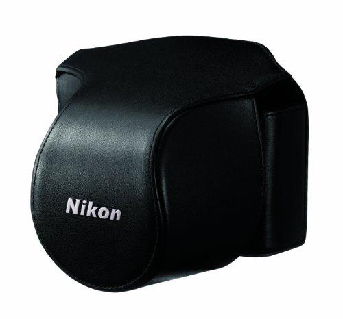 Nikon CB-N1000SA - Funda (Nikon 1 V1, Cuero, Negro)