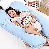 #10: Babies Bloom Blue Multi-Functional U-Shaped Nursing/Pregnancy Full Body Pillow (75 x 135 cm) (30x53inch)