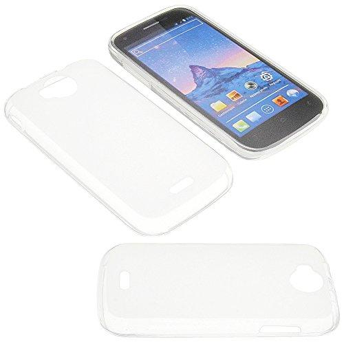Tasche für Wiko Cink Peax 2 Gummi TPU Schutz Handytasche milchig transparent