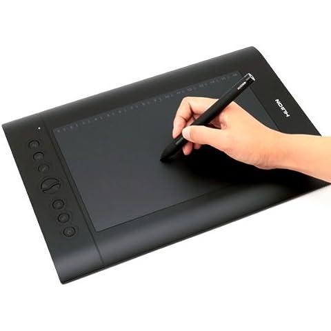HUION H610 Pro Tableta Gráfica, 2048 Niveles de Presión Del Lápiz, Tamaño Grande, Buena Para