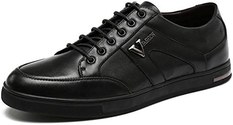 Herren Winter Herbst Mode Spitze schwarz Schuhe lässig Classic Lederschuhe