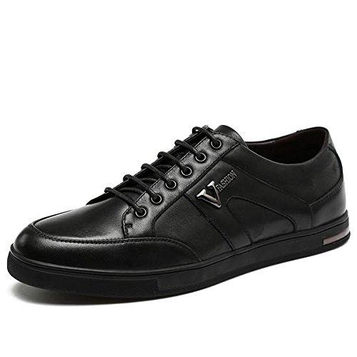 Automne hiver Fashion dentelle noir hommes chaussures Casual en cuir classique