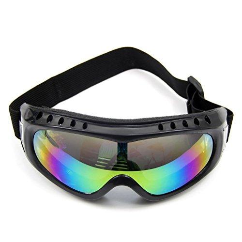 SODIAL(R) Lunette de protection colorees en caoutchouc Lunettes a bordures noires en Outdoor Sport Lunettes Lunettes de soleil