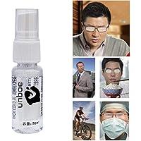 BASOYO - Visera antivaho para casco con pulverizador antivaho líquido, portátil, antivaho para gafas de natación, máscara de buceo, 30 ml